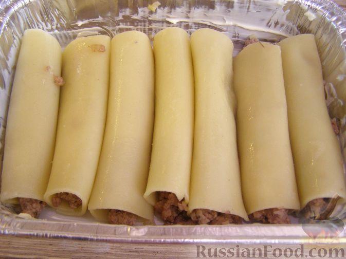 рецепт макарон фаршированных мясом