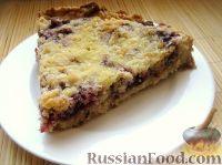 Фото к рецепту: Быстрый пирог с брусникой
