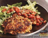 Фото к рецепту: Вегетарианские котлеты с овощной сальсой