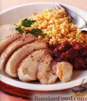 Фото к рецепту: Куриное филе с клюквенным соусом
