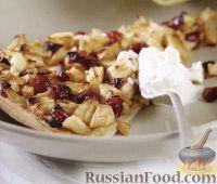 Фото к рецепту: Пицца с яблоками и клюквой
