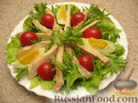 Фото приготовления рецепта: Салат «Цезарь» простой - шаг №7
