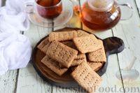 Фото к рецепту: Крекеры из цельнозерновой муки с мёдом