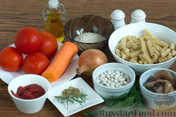 Фото приготовления рецепта: Куриный суп с капустой, сладким перцем и маслинами - шаг №2