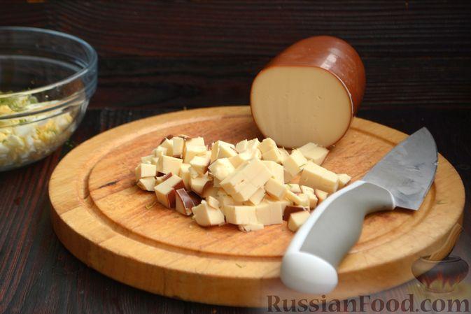 Фото приготовления рецепта: Творожная шоколадно-ванильная запеканка - шаг №9