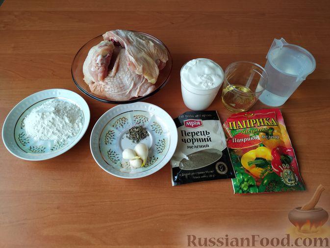 Фото приготовления рецепта: Куриный суп с зелеными помидорами и капустой - шаг №7
