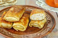 Фото к рецепту: Блинчики с начинкой из мясного фарша и риса