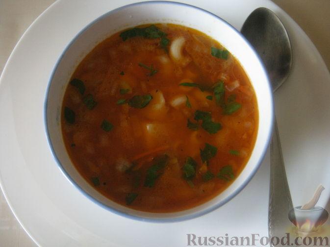 суп с макаронами и картошкой рецепт с фото без мяса