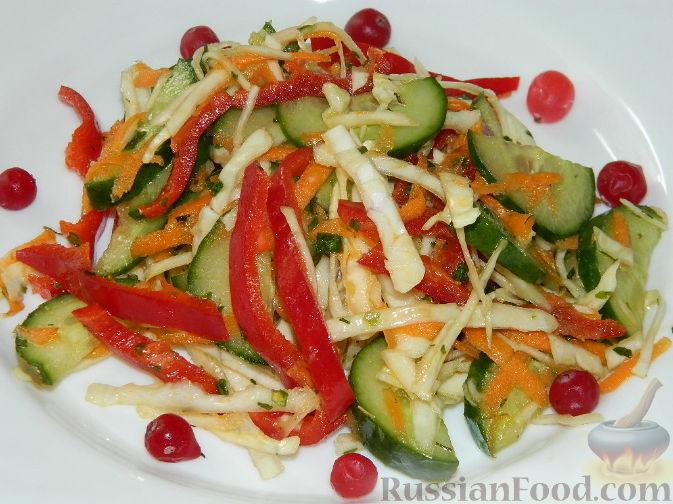 """Рецепт Салат из капусты и овощей """"Красотка"""""""