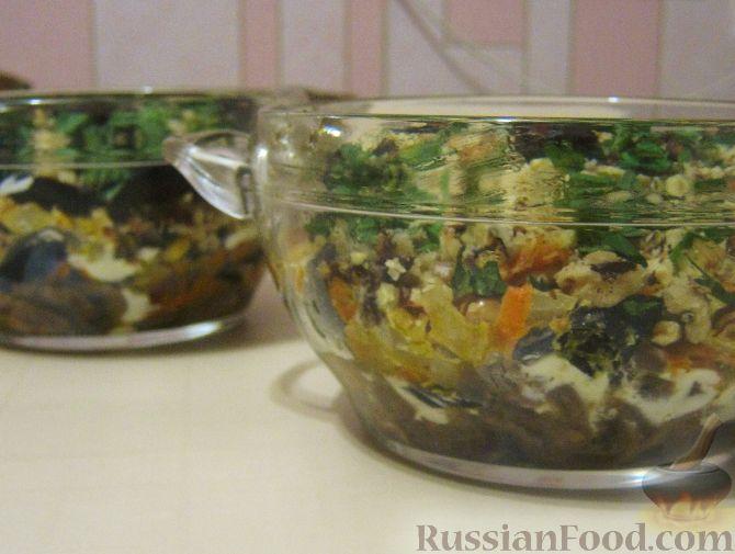 Рецепт Салат «Анастасия» с морковью, грибами и орехами