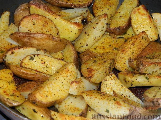 картошка запеченная в духовке дольками рецепт