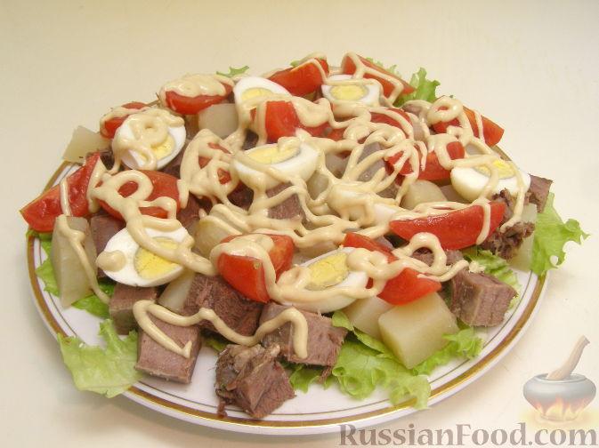 """Рецепт Салат с языком """"Аппетитный"""""""