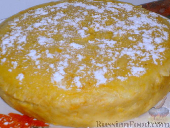 Рецепт Торт-запеканка из тыквы в микроволновке