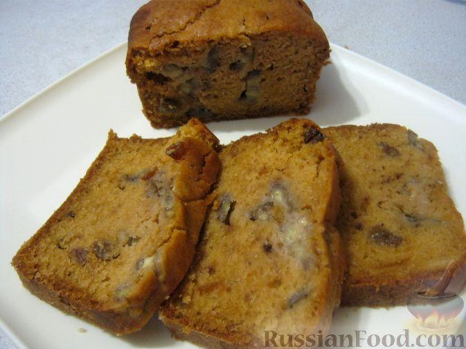Фото приготовления рецепта: Апельсиновый кекс с бананом - шаг №7