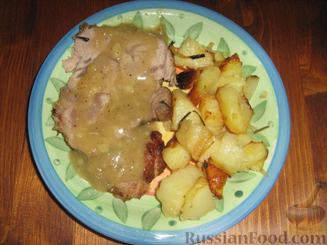 Рецепт Жаркое из телятины (рулет) и картофель в духовке (Arrosto)