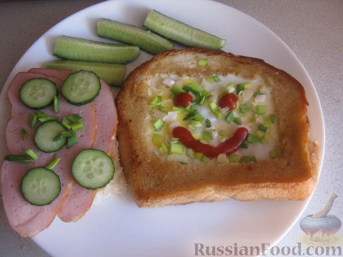 Рецепт Бутерброды «Завтрак холостяка»
