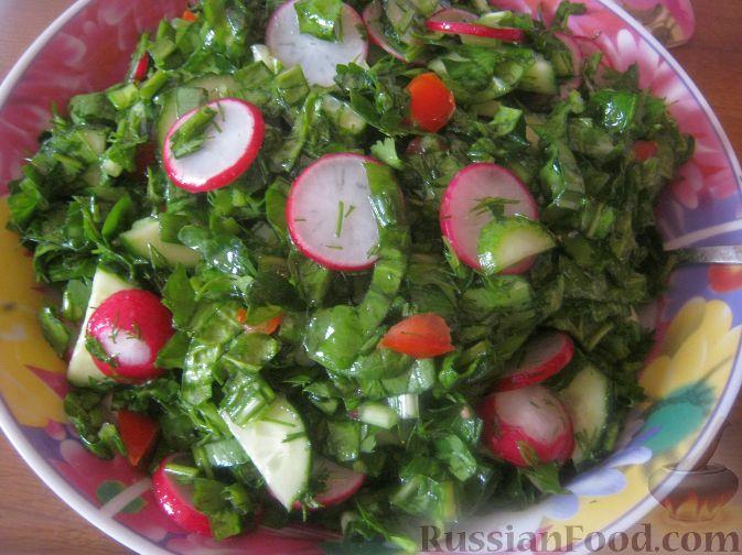 Рецепт Овощной весенний салат к шашлыку