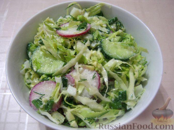 Салат из пекинской капустыы с яйцом и
