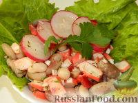 Фото к рецепту: Салат с фасолью «Морские камушки»