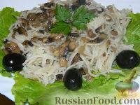 Фото к рецепту: Макароны с грибами