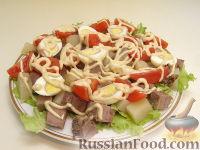 """Фото к рецепту: Салат с языком """"Аппетитный"""""""