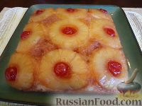 Фото к рецепту: Самый вкусный ананасовый пирог