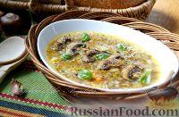 Фото к рецепту: Cуп с грибами и гречкой