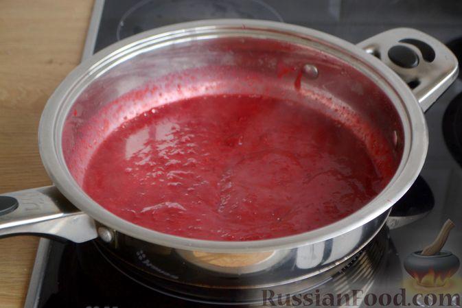 Фото приготовления рецепта: Запечённые мясные фрикадельки, тушенные в вишнёвом соусе - шаг №9
