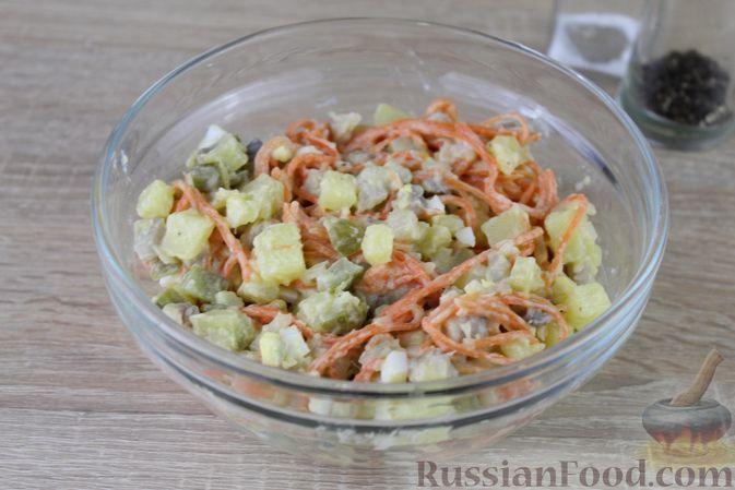 Фото приготовления рецепта: Яблочный тарт с заварным кремом и ореховой корочкой - шаг №29
