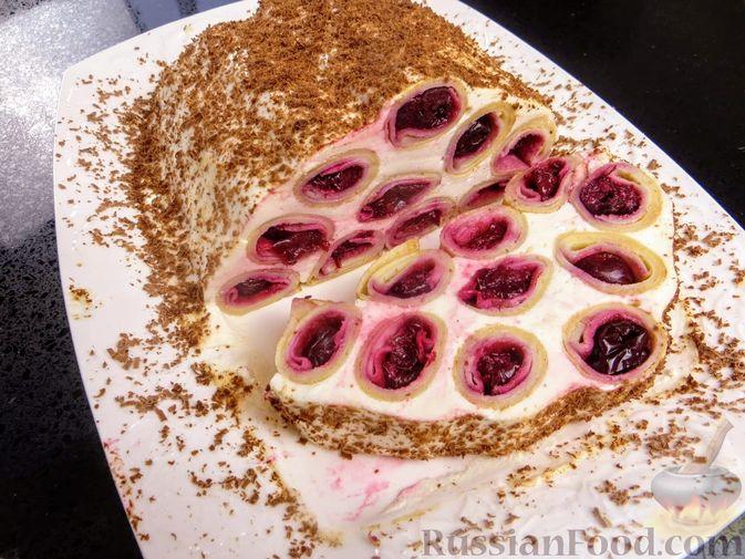 """Фото к рецепту: Блинный торт """"Монастырская изба"""""""