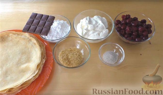 """Фото приготовления рецепта: Блинный торт """"Монастырская изба"""" - шаг №1"""
