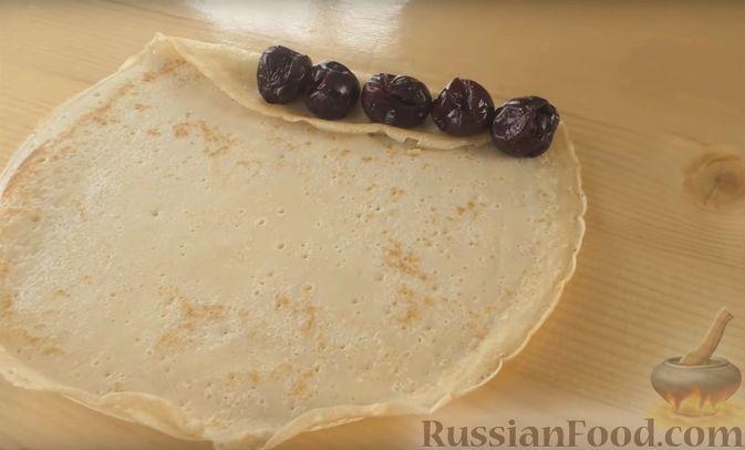 """Фото приготовления рецепта: Блинный торт """"Монастырская изба"""" - шаг №5"""