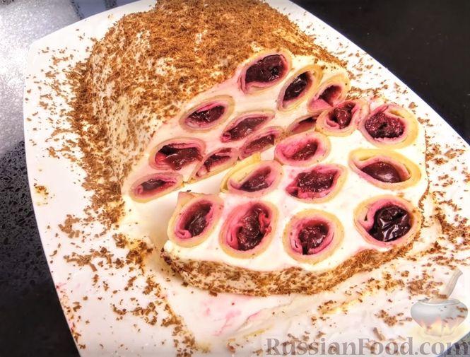 """Фото приготовления рецепта: Блинный торт """"Монастырская изба"""" - шаг №13"""