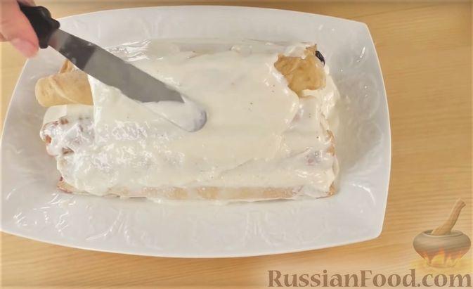 """Фото приготовления рецепта: Блинный торт """"Монастырская изба"""" - шаг №10"""