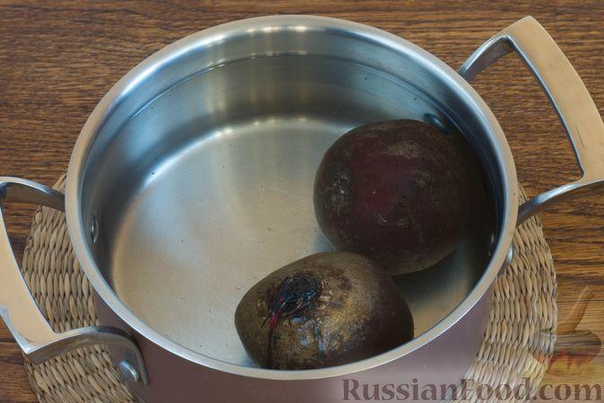 Фото приготовления рецепта: Картофельный крем-суп с курицей и макаронами - шаг №9