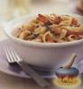 Фото к рецепту: Лапша феттучине с чесночно-креветочным соусом