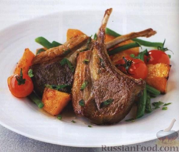 Рецепт Баранина с тыквой, стручковой фасолью и мятой