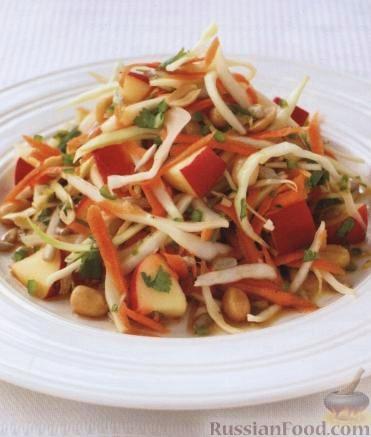 Рецепт Салат из капусты с арахисом