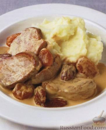 Рецепт Свинина с орехами и курагой