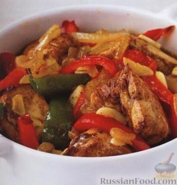 Рецепт Курица с корицей и сладким перцем