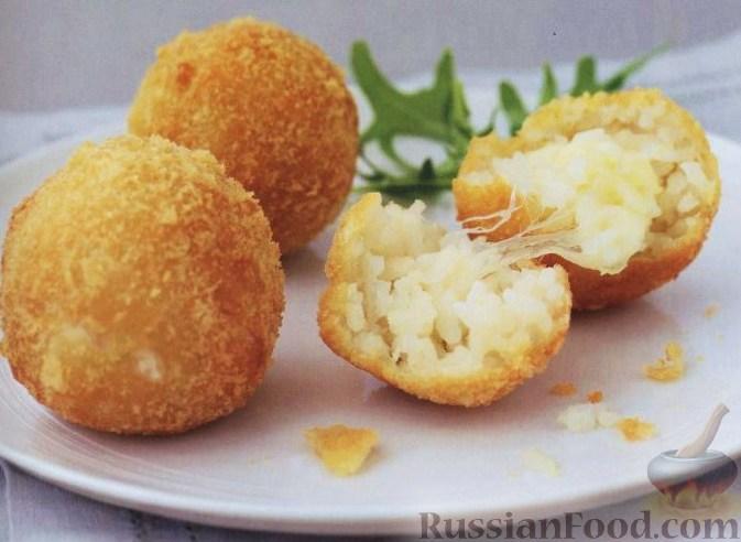 Рецепт Рисовые шарики с сыром