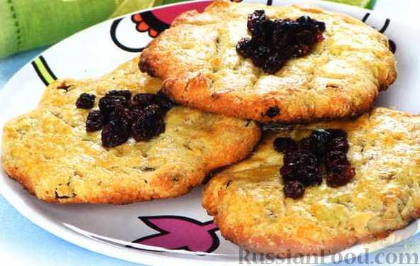 Рецепт Печенье с изюмом или курагой