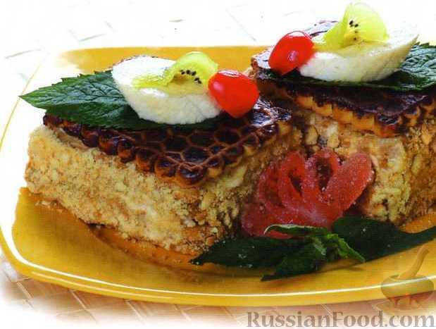 Рецепт Бананово-творожный торт