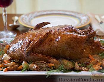 Рецепт Жареная утка с тимьяном, чесноком и фенхелем