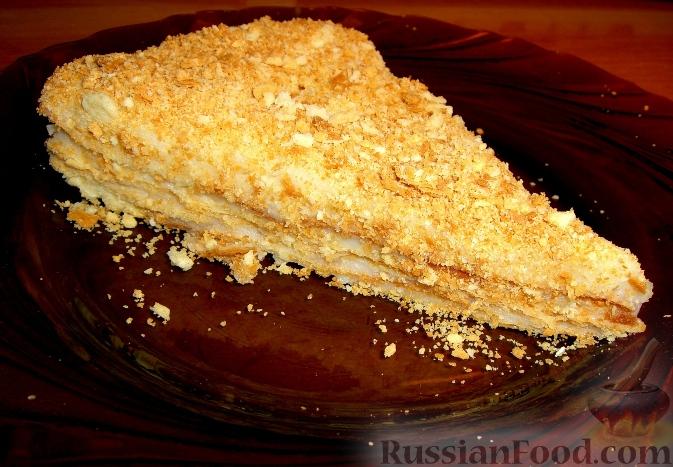 Торт наполеон рецепт с фото пошагово со сгущенкой видео рецепт