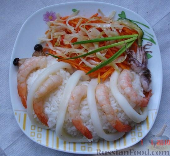 Рецепт Рис с морепродуктами и овощами
