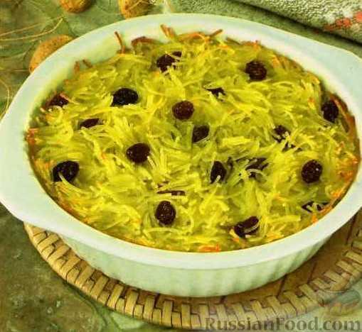 Рецепт Запеканка-суфле из лапши