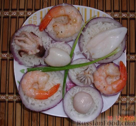 Рецепт Закуска из риса и морепродуктов