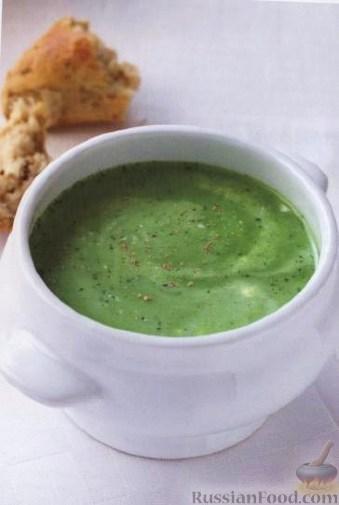 Рецепт Суп-пюре из зеленого горошка и мяты