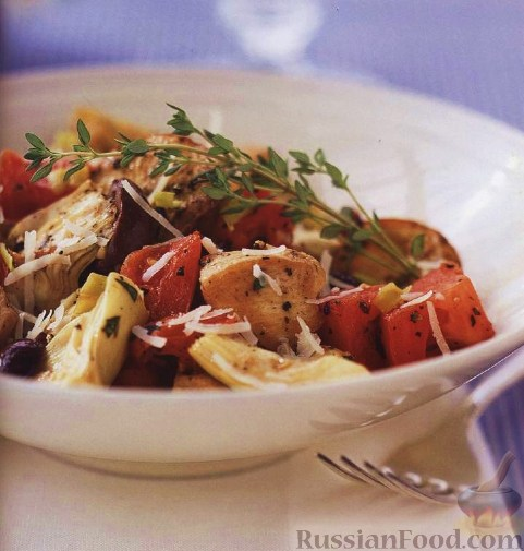 Рецепт Курица с картофелем по-средиземноморски